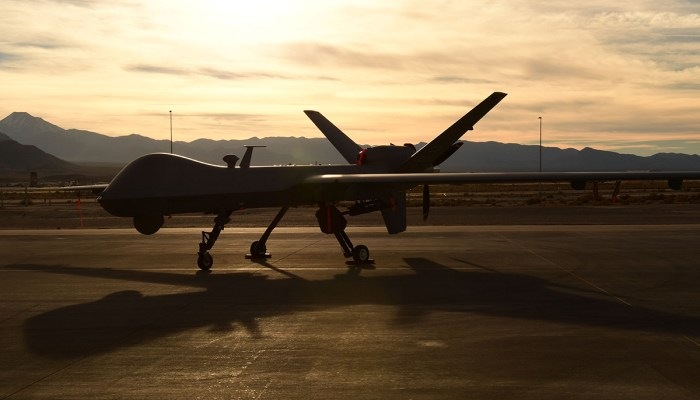 Air Force MQ-9 Reaper unmanned aircraft. (Credit: U.S. Department of Defense)