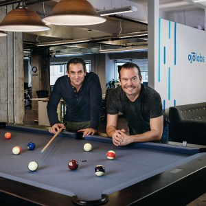 OJO Labs CEO John Berkowitz (l) with David Rubin