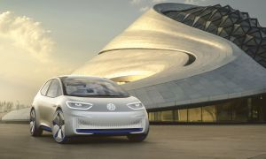 Photo Courtesy of Volkswagen Group. Volkswagen started the countdown to the future with the world premiere of its visionary I.D. study at the Paris Motor Show in 2016. The compact 125 kW I.D. is a highly automated electric car based on Volkswagen's ground-breaking All-New Electric Architecture. With one battery charge, the I.D. can cover distances between 400 and 600 kilometers. The production version is to be launched in 2020 at the price level of a Golf with comparable power output and equipment. However, Volkswagen is looking much further into the future with the study. In the I.D. Pilot mode, the electric car allows fully automated driving. This technology is to be ready for series production by 2025.