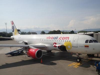 Viva Air Airbus A320 at CLO by Loren Moss