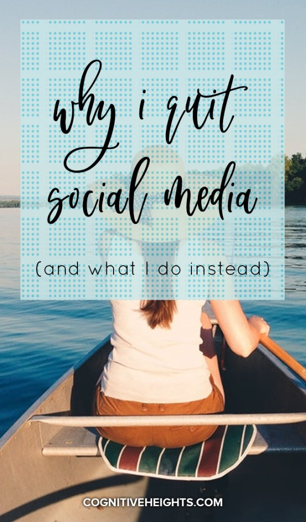 Why I quite social media