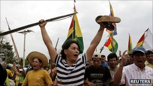 Indigenous Peoples of Bolivia Confront Police Violence