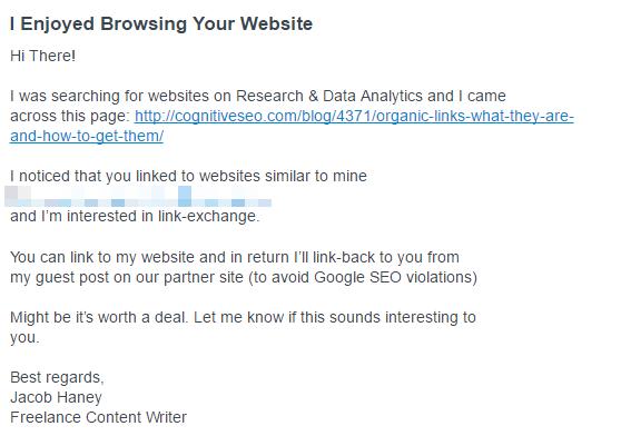 Link Exchange Request