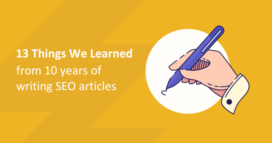 Things we learned from writing SEO articles