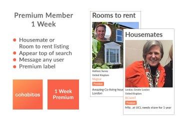 1 week premium member Cohabitas