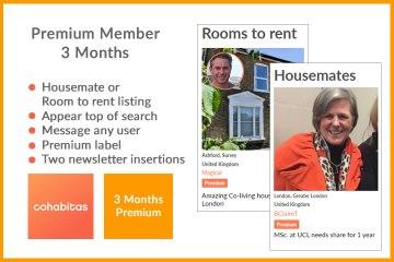 3 months Premium membership Cohabitas