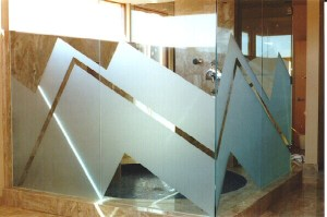 Featured Project: Zig Zag Shower Door