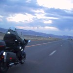 Steve Viertell greets the dawn somewhere in Nevada.