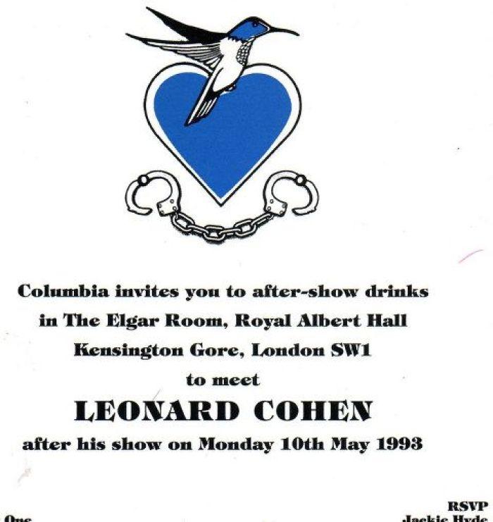 Autograph Archives - Cohencentric: Leonard Cohen Considered