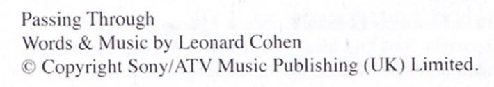 lyrics-of-Leonard-Cohen