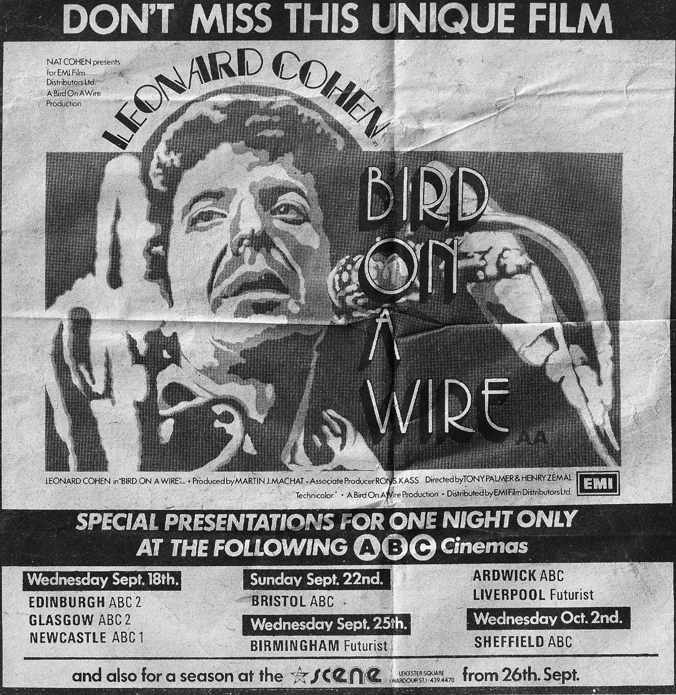 Signs Of Leonard Cohen: Newspaper Ad For The Original 1974 Release ...
