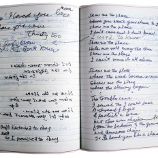 Pages from Leonard Cohen's notebook
