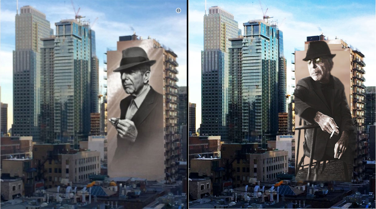 You Want It Darker Leonard Cohen Montreal Mural Alternative