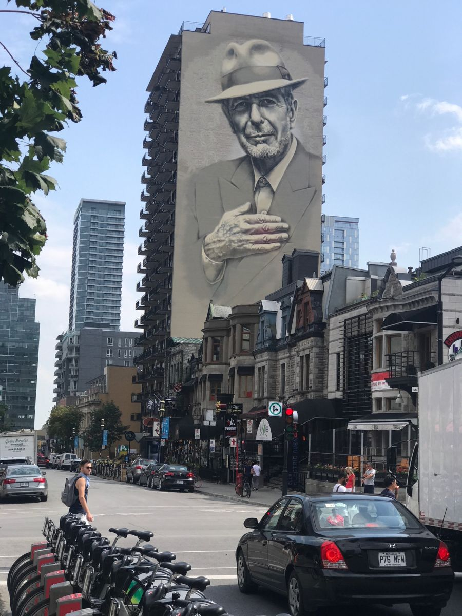 Montreal Mural Archives Cohencentric Leonard Cohen Considered