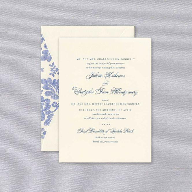 Ecru And Juliette Elegant Wedding Invitation