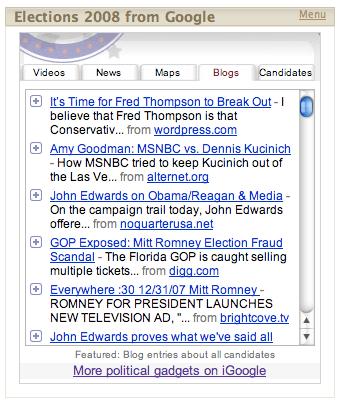 Google Political News