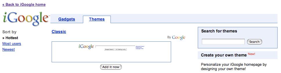 iGoogle Theme Search