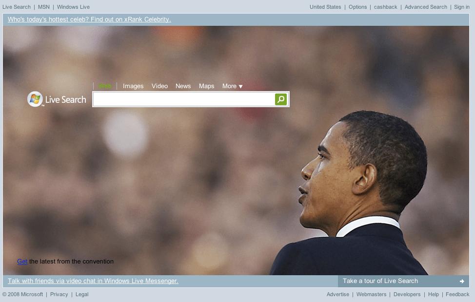 Live Search Barack Obama