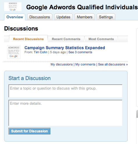 Linkedin Groups Discsussions Overview