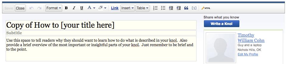 Google How To Knol