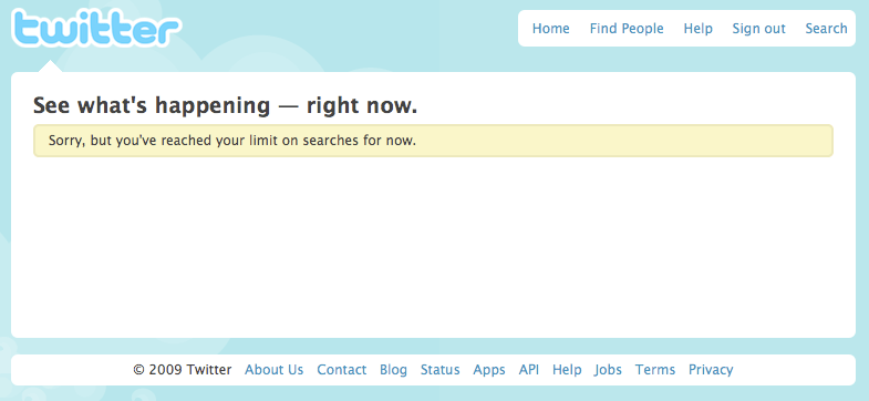 Twitter Search Limits
