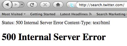 Twitter Search Error