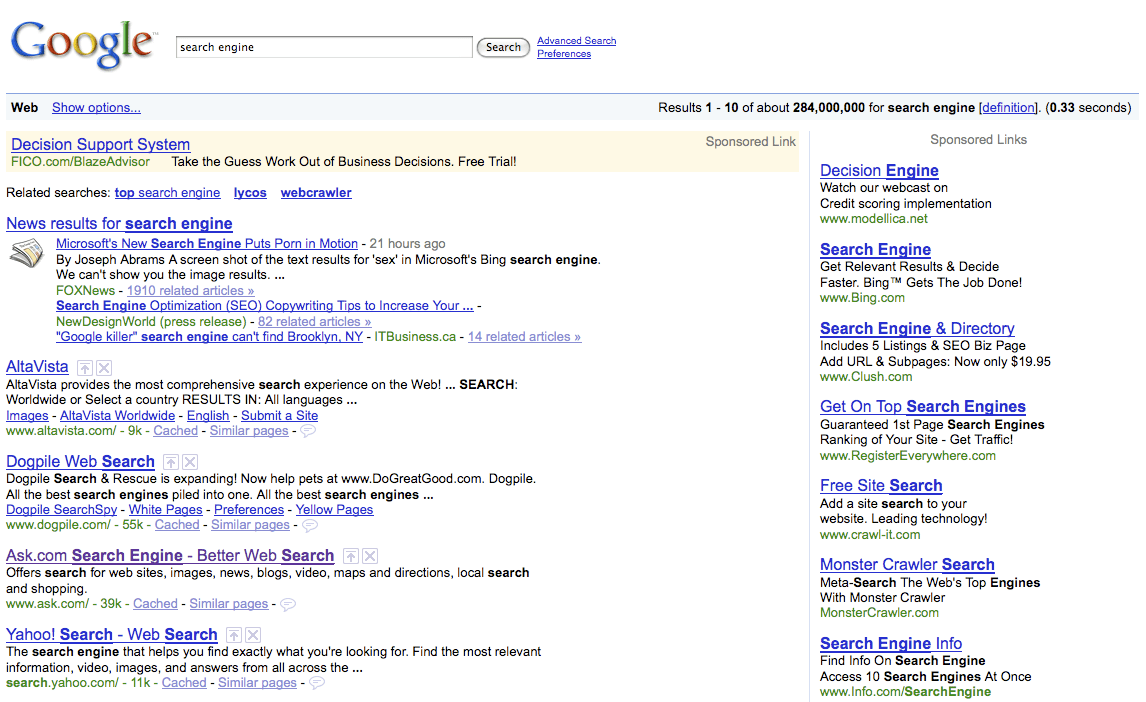 Search Engine Ad