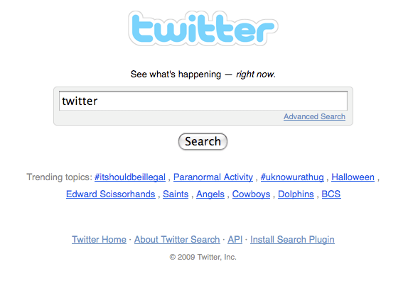 Twitter Search Fail
