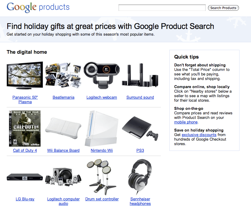 Google Product Search