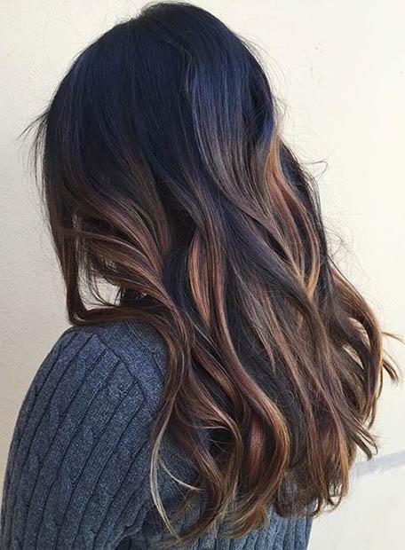 Les Meilleures Ides De Balayages Cheveux Marron Caramel