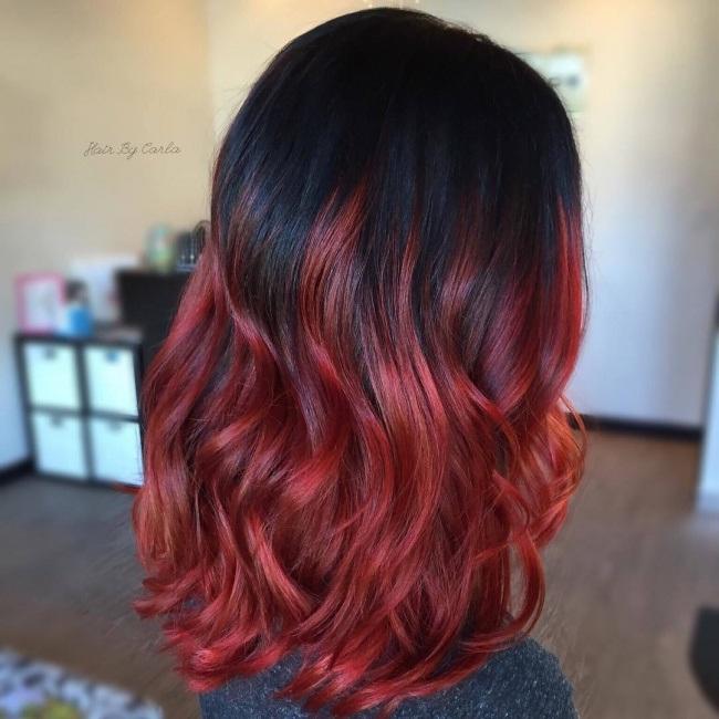 Jolie Couleur Pour Cheveux Mi Longs Coiffure Simple Et
