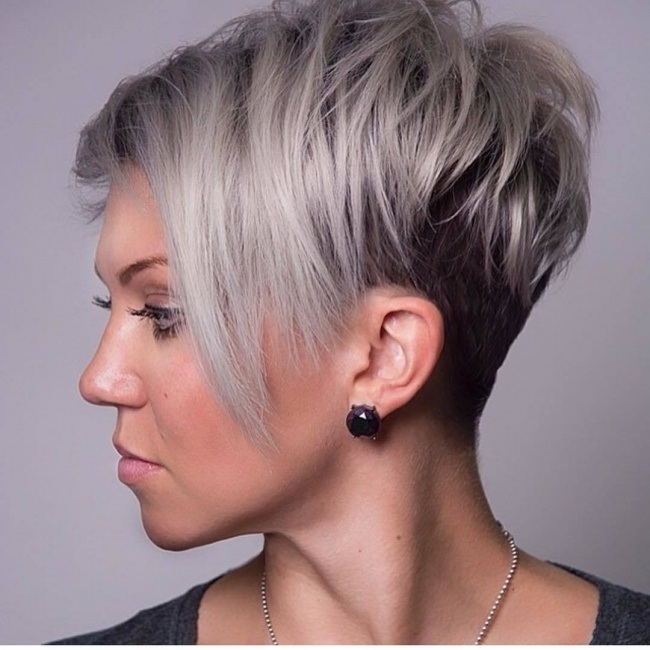 Shaved Undercut Inverted Bob