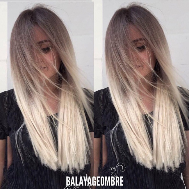 Ombre Hair Brown Light Brown