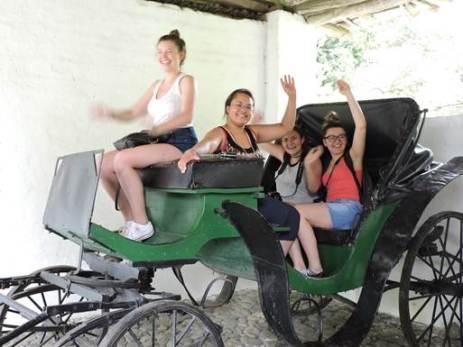 Alex, Falicia, Erica, Haley at the sugar cane museum