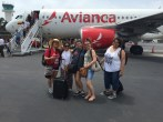 Getting off the plane in Cartagena