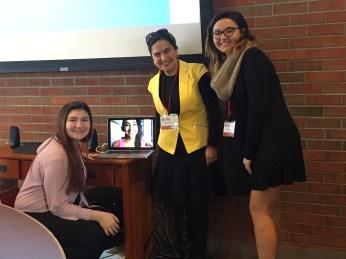 Erica, Paula, Prfa Montoya, Haley at the SUNY conference