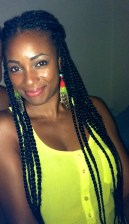 Box braids faded ends