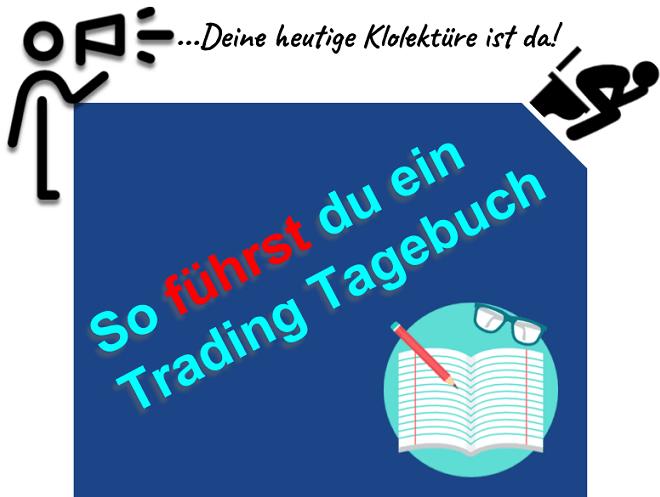 Ein Trading Tagebuch richtig führen Journal Excel PDF Vorlage