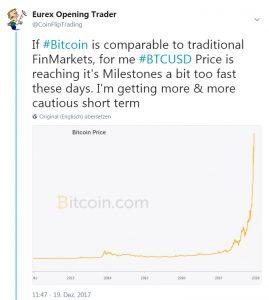 Am 19 Dez 2017 beschlich mich bezüglich es Bitcoins ein mulmiges Gefühl