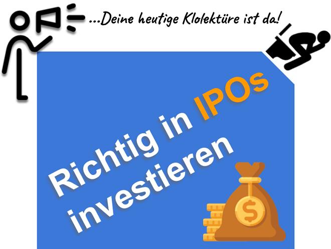 Richtig in IPOs investieren - WIe du von Börsengängen profitierst