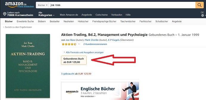Joe Ross Trading Bücher kaufen bei Amazon - Aktien Trading Bank 2