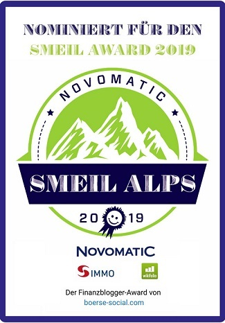 Nominiert für den Smeil Alps Award 2019 CoinFlip Trading privater Blog Ingmar Folk Nominee