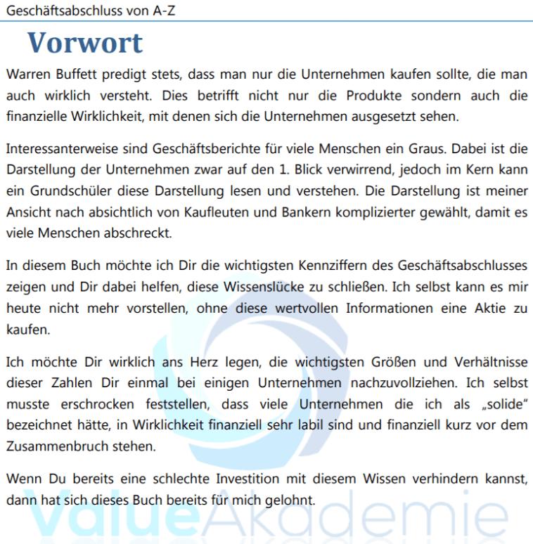 Warren_Buffett_Value_Akademie_ebook_Geschäftsbericht_lesen_Vorwort