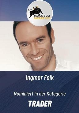 Black Bull Award Finanzkongress Kategorie Trader 2021 Ingmar Folk CoinFlip Trading