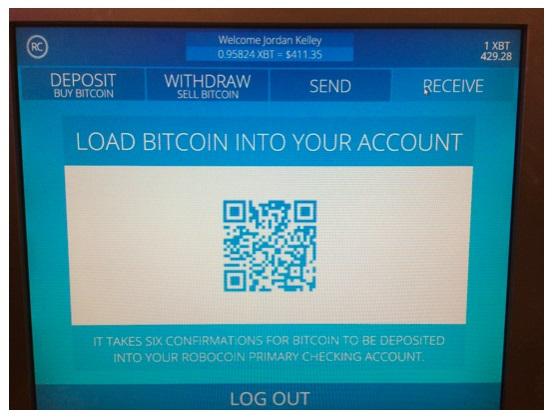 Robocoin wallet deposit
