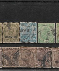 Rare old Indian Post George V Collection of 1/2 Anna, 1 Anna & 4 Anna Stamps