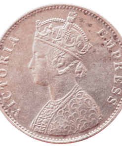 One Rupees Alwar State Queen Victoria Empress Silver Coin
