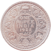 One Rupee India 1922 Rare Date George V Silver Coin UNC