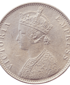 One Rupee Bikaner State Silver Coin of Queen Victoria