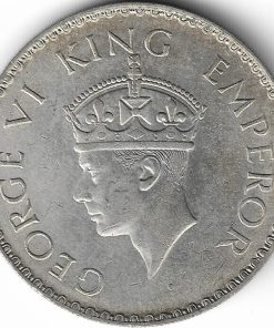 One Rupees 1940 George Vi King Emperor British India Coin #1